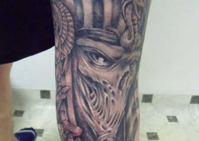 Egyptian mask tattoo