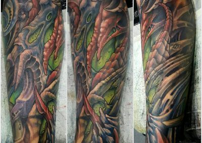 Biomechanical tattoo, bio, biomech tattoo