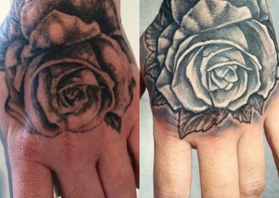 Black & grey rose