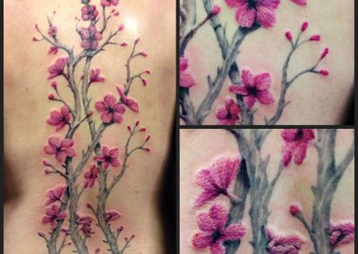 Pink blossoms, tattoo