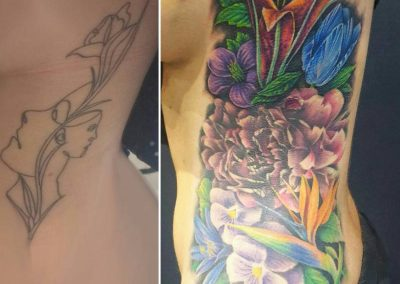 Coverup, lily, pansy, peony