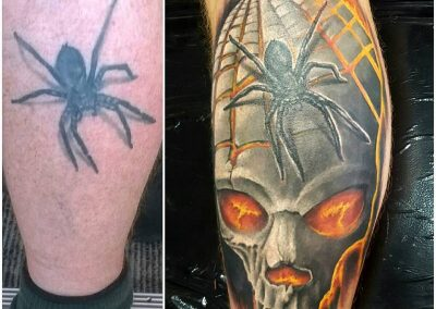Spider, redo, tattoo
